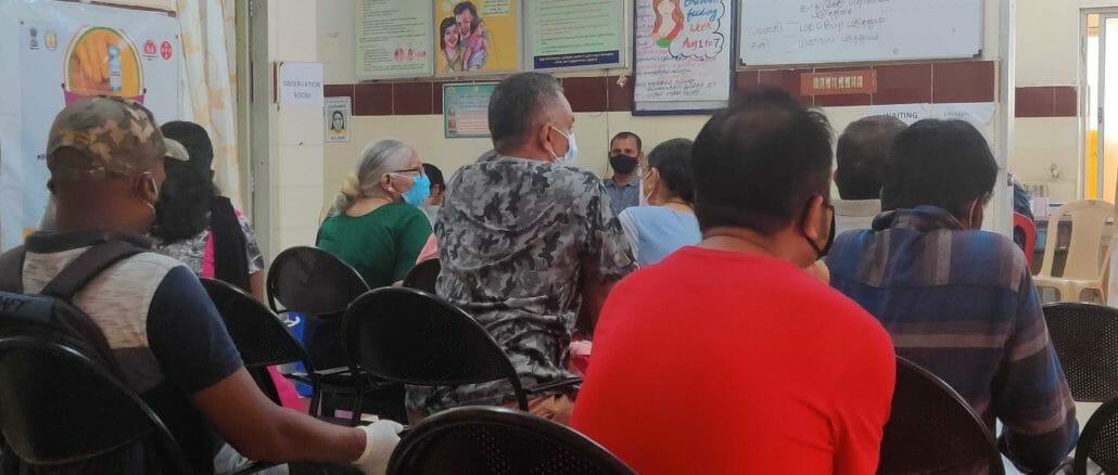 Chennai COVID vaccination at PHC