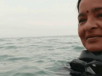 Chennai diver Uma Mani documents coral health through art