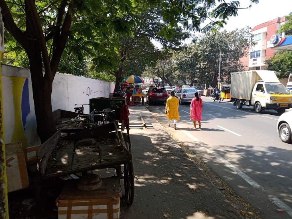 Chennai pedestrians on the road