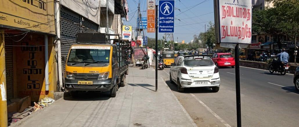 chennai footpaths encroachment