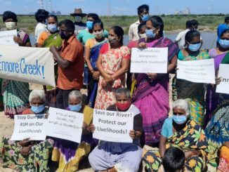 Citizens protest against pollution of ennore creek