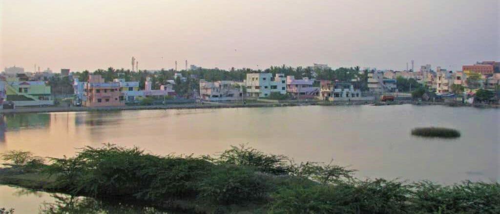 Encroachment of the Velachery Lake in Chennai