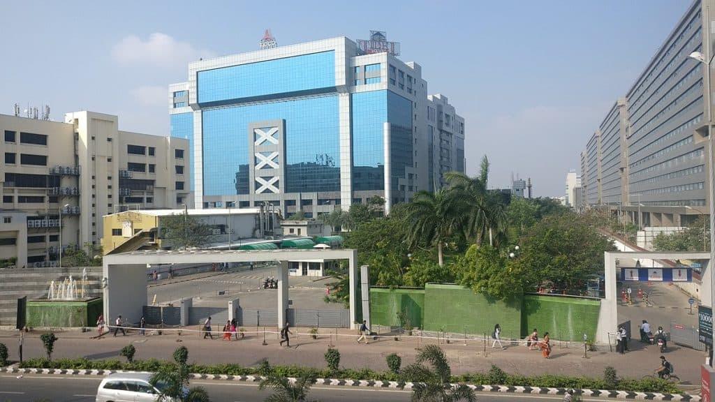 Glass facade building -Tidel IT Park Chennai