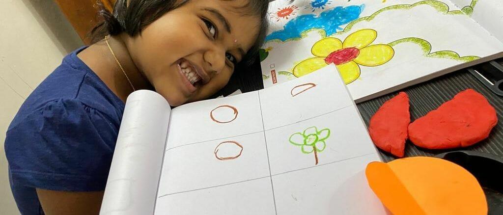Chennai preschoolers are attending virtual classes too