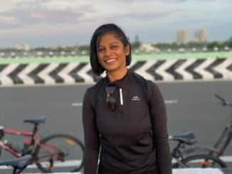 woman cyclist Naazia Farhein