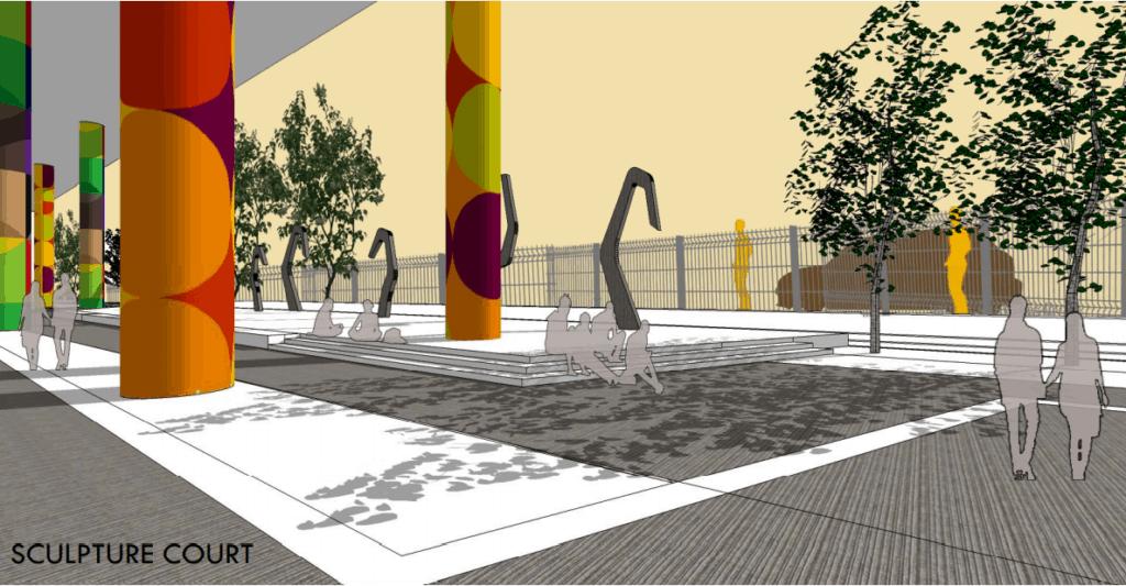 Buckingham Canal beautification - Proposed urban plaza