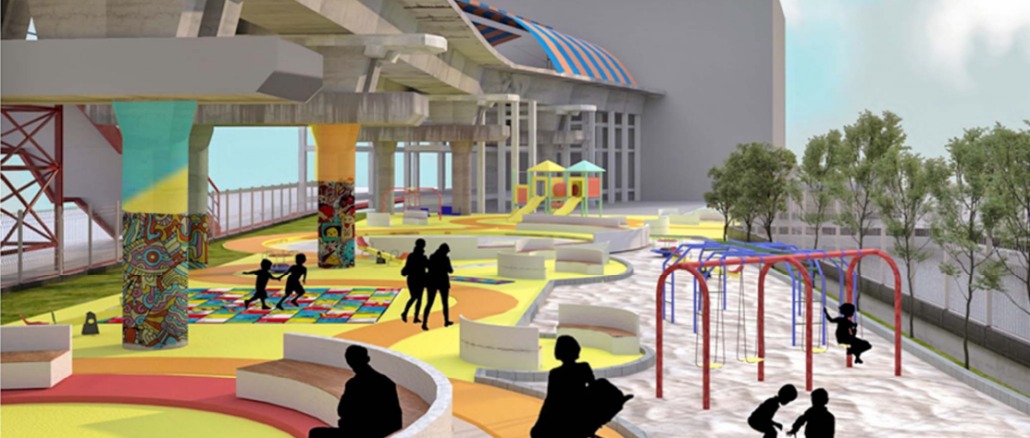 Buckingham Canal beautification - Proposed children's park