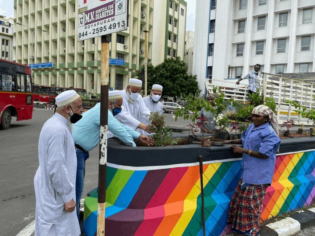 Traffic gardens in Chennai