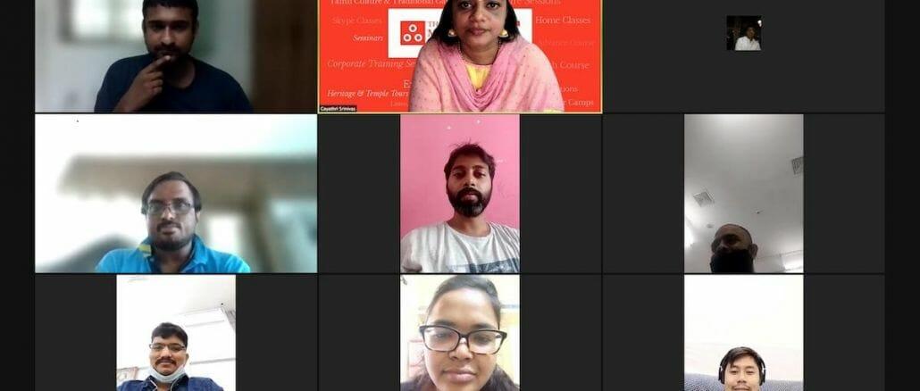 Online Tamil class underway