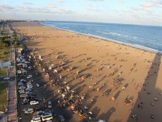 marina beach coastline