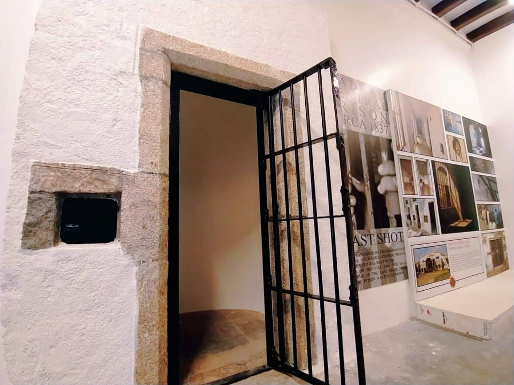 Model lock up cell in Chennai police museum